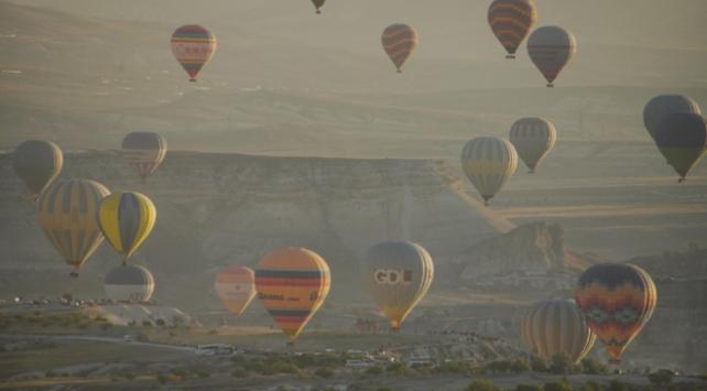 Kapadokyada sıcak hava balonu turları ekimde başlayacak