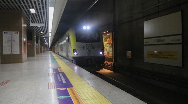 Marmaraydan 100. yük treni geçti