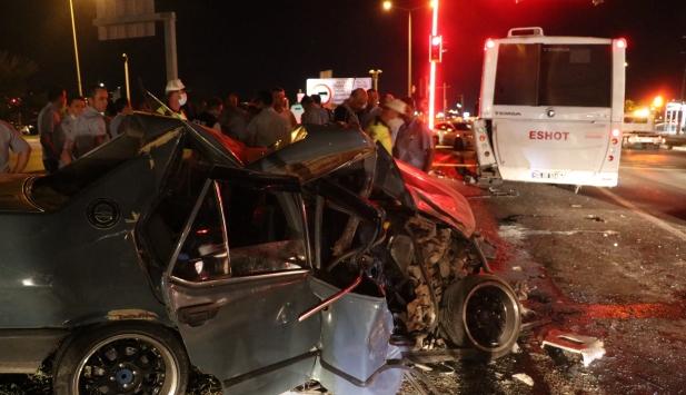 İzmirde trafik kazası : 6 yaralı