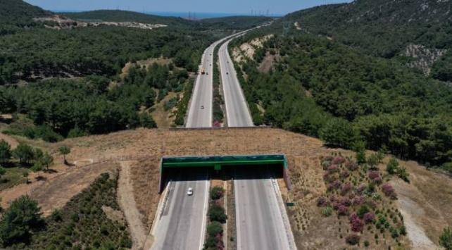 İzmir-Çeşme Otoyolu üzerindeki ekolojik köprünün yapımı tamamlandı