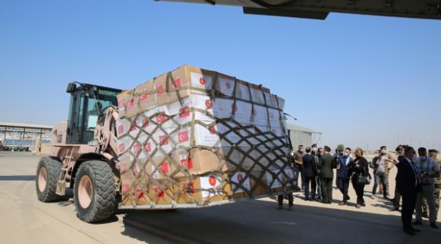 Türkiyeden gönderilen yardım malzemeleri Iraka ulaştı