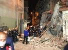 Erzurum'da kullanılmayan 5 katlı bina çöktü
