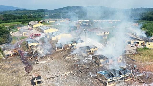 TRT Haber patlama bölgesini havadan görüntüledi