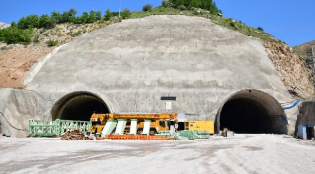 Giresun Eğribel Tünelinde kazı çalışmaları tamamlandı