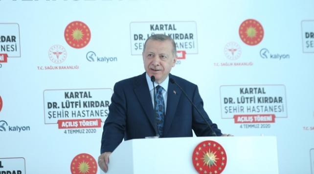 Erdoğandan Kartal Lütfi Kırdar Şehir Hastanesi paylaşımı