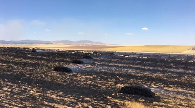 Kırşehirde tarla yangını