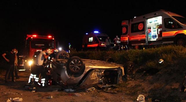 Nişan merasimi dönüşü kaza: 1 ölü, 5 yaralı