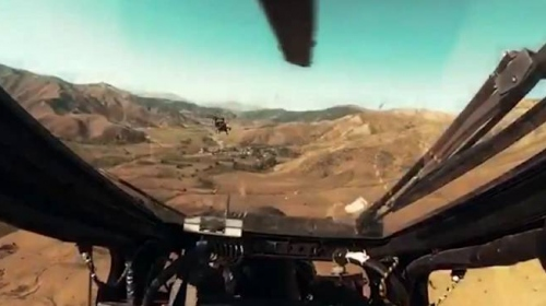 ATAK helikopterinin kokpitinden operasyon anı