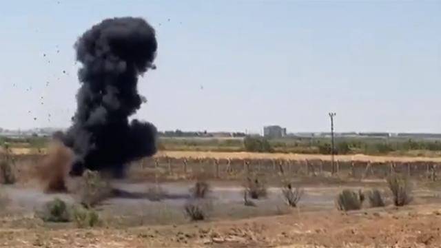 Sınırda tespit edilen 7 antitank mayını imha edildi