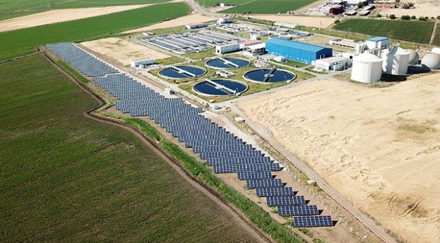 Kahramanmaraşta atık su arıtma tesisine güneş enerji santrali kuruldu