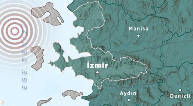 Ege Denizinde 4,2 büyüklüğünde deprem