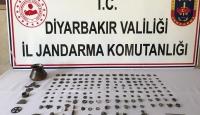 Diyarbakır'da 122 bakır sikke ve 46 tarihi obje ele geçirildi