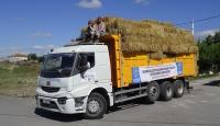 Hayvancılıkla uğraşan köylülere ücretsiz saman