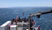 Türk kara sularına itilen 57 sığınmacı kurtarıldı