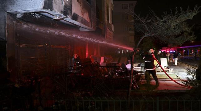 Başkentte iş yerinde çıkan yangın hasara neden oldu