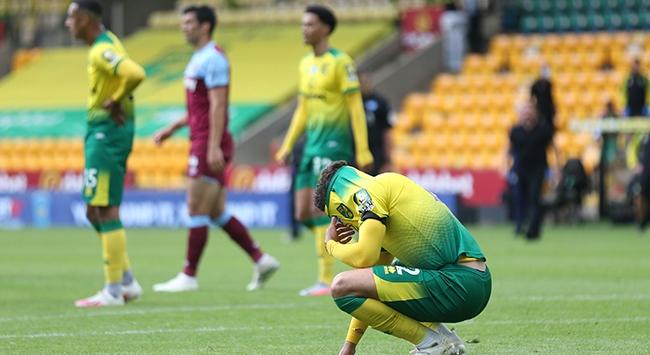 Premier Ligden düşen ilk takım Norwich City oldu