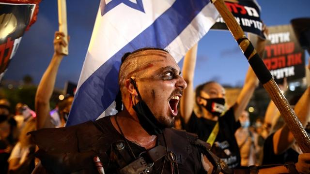 Binlerce İsrailli, Netanyahu hükümetini protesto etti