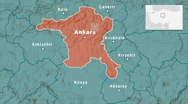 Ankarada 3,6 büyüklüğünde deprem