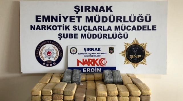 Şırnakta 82 kilogram uyuşturucu madde ele geçirildi