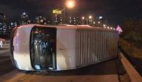 TEM Otoyolu'nda kaza: Trafikte yoğunluğa neden oldu