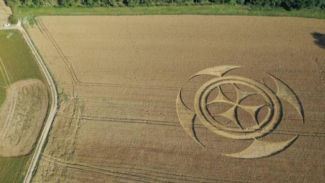 Fransa'da yeni bir ekin çemberi ortaya çıktı