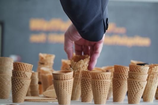 Bursada üretilen dondurma külahları 7 ülkeye ihraç ediliyor