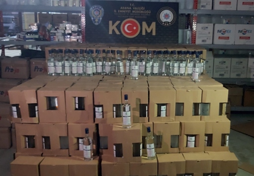 Adanada 2 bin 140 litre kaçak etil alkol ele geçirildi