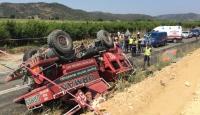İzmir'de arazöz devrildi: 2 ölü, 2 yaralı