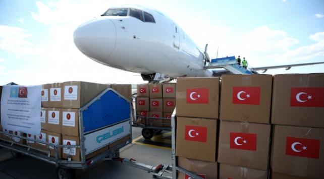 Türkiyenin tıbbi malzeme yardımları Kazakistana ulaştı