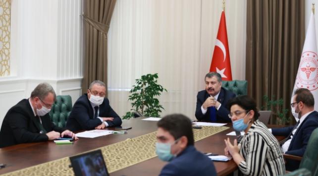 Bakan Koca, Azeri, Kazak ve Özbek mevkidaşlarıyla görüştü