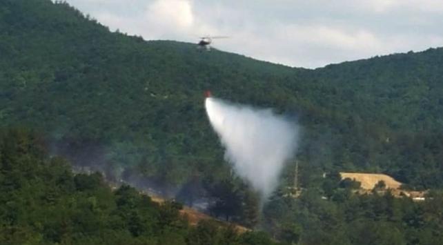Çanakkaledeki orman yangını kontrol altında