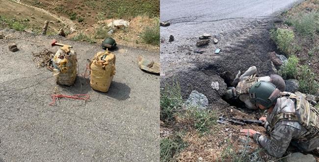 PKKnın telsiz düzenekli tuzağını komandolar fark etti