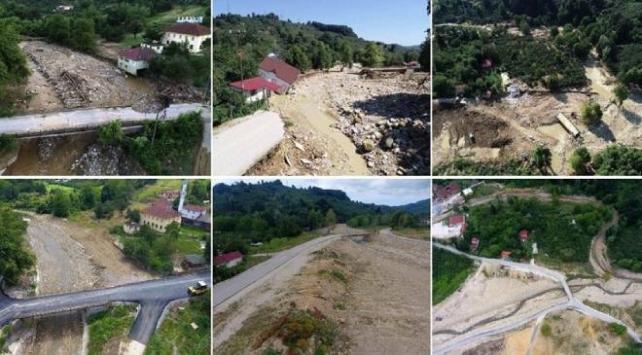Düzcede sel felaketinden zarar gören 49 köyde çalışmalar tamamlandı