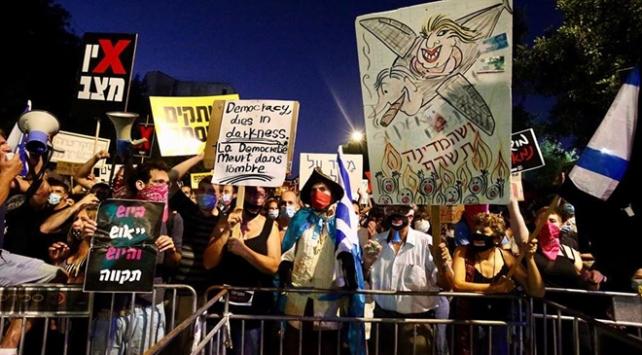 İsrailde Netanyahu karşıtı gösteriler artıyor
