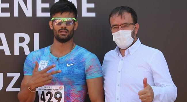 Milli atlet Sinan Örenden Türkiye rekoru