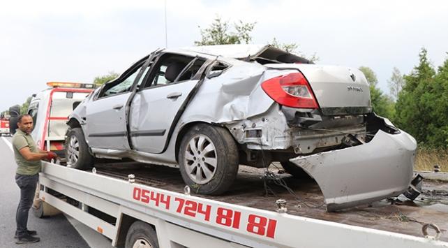Düzcede otomobil devrildi: 5 yaralı
