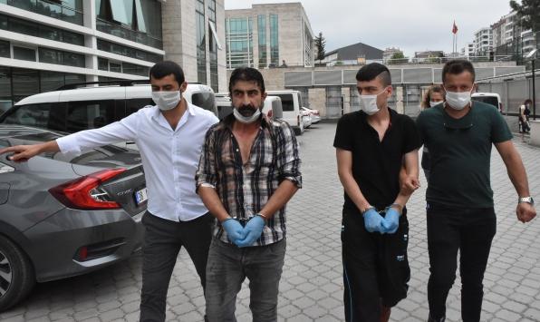 Samsunda polis memurlarını darbettiği öne sürülen anne, baba ve oğlu yakalandı