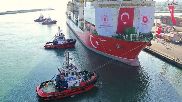 Fatih, Karadeniz'deki ilk sondajına başladı