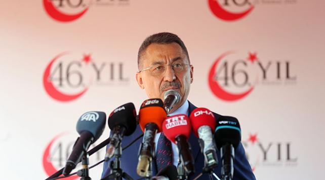 Cumhurbaşkanı Yardımcısı Oktay: Kıbrıslı Türklerin kendi kaderini tayin yolu, siyasi eşitlik ve hürriyet yoludur