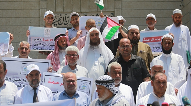 Gazzedeki alimlerden İsrail protestosu