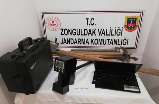Zonguldakta izinsiz kazı yapan 5 kişi suçüstü yakalandı