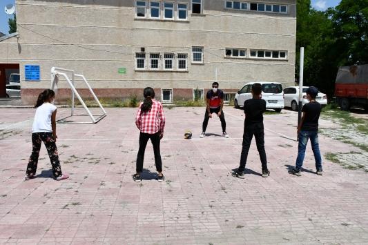 Köy çocukları gezici spor timi ile artık çok sportif