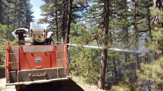 Ispartada ormanlık alandaki yangın kontrol altına alındı