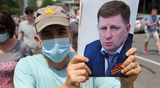 Rusyada Vali Sergey Furgala özgürlük protestoları sürüyor