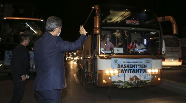Ankaradan Ayasofyaya 1453 kişilik konvoy