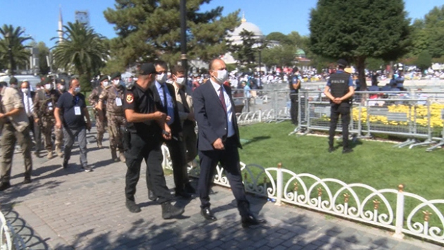 İstanbul Emniyet Müdürü Aktaştan, Ayasofyada denetim