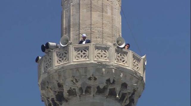 Ayasofyanın minarelerinden 4 müezzin birlikte sela okudu