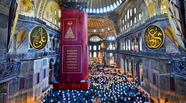 Ayasofya Camii, Cuma namazı sonrası dezenfekte edildi