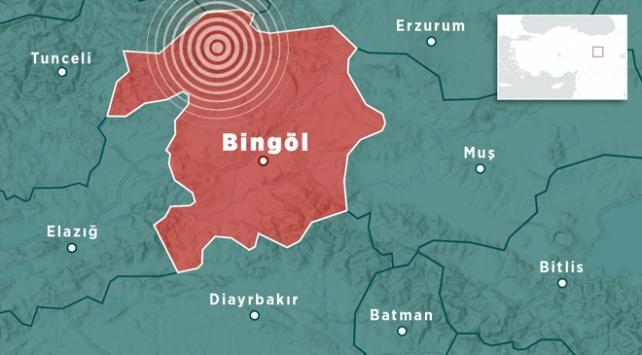 Bingölde 4 büyüklüğünde deprem