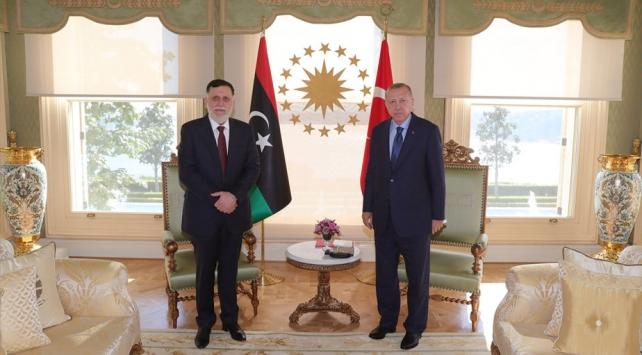 Cumhurbaşkanı Erdoğan Libya Başbakanı Serracı kabul etti
